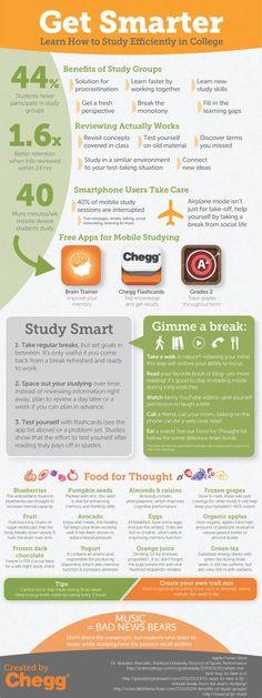 Get Smarter Infographic How to study better | Joyful DIY Time