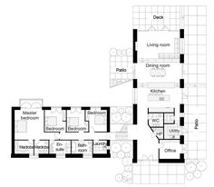 L-shaped four bedroom open floor plans - Google Search