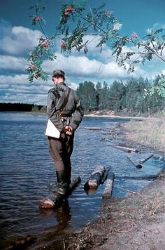 "historicaltimes: ""Lieutenant Olavi Paavolainen, an author, in Aunus during the trench war in autums Kim Borg. History Of Finland, Night Shadow, Army Sergeant, German Soldiers Ww2, Canadian Army, War Photography, Total War, Second World, World War Two"
