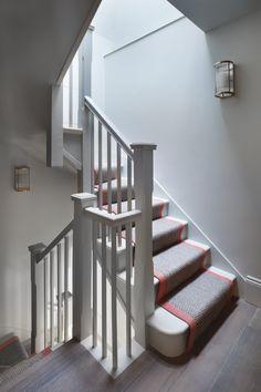 The Mews Belgravia Hallway Inspiration, Interior Design Inspiration, Design Ideas, Sisal Stair Runner, Stair Runners, Entryway Stairs, Interior Design London, Mews House, Villa