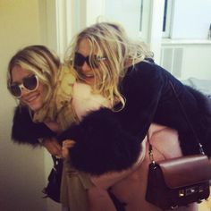 Mary-Kate and Ashley looking adorable while visiting the dentist