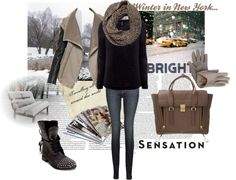 """""""Winter in the City"""" by raluca199 on Polyvore"""