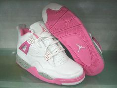 pink jordan IV two of my favs in the Jordan brand....Dont say i dont look out LiL V