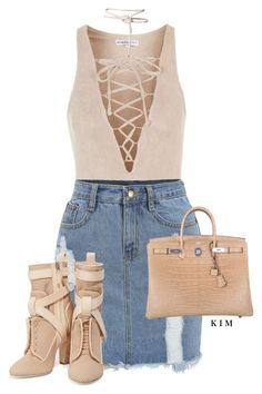 """Untitled #3361"" by kimberlythestylist ❤ liked on Polyvore featuring Topshop, Fendi and Hermès"