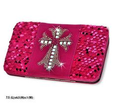 Western Cross Design Hot Pink Wallet #country #cowgirl #accessories #fashion #popular #womens #style #trendy #purse #bling #hunting #3d #boutique #buckle #western #religious