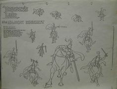Don Bluth Dragons Lair of The Black Knight Animation Model Sheet Drawing Cel | eBay