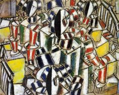 Staircase 19 by @artistleger #frenchart #cubism