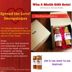 Molli Spread the Love Sweepstakes - Molli Sauces - Interior Mexican Flavors