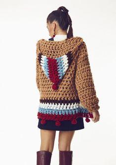 Fabulous Crochet a Little Black Crochet Dress Ideas. Georgeous Crochet a Little Black Crochet Dress Ideas. Crochet Bodycon Dresses, Black Crochet Dress, Crochet Coat, Crochet Jacket, Crochet Cardigan, Crochet Clothes, Mode Crochet, Easy Crochet, Crochet Bolero