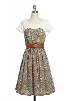 Tea for Two Dress   Vintage, Retro, Indie Style Plus Size Clothing