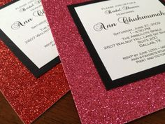 Glitter Invitation, Sweet 16 Invite, Bling Bat Mitzvah Invitation, Bachelorette Party, Glamourous, Save the Date, Holiday