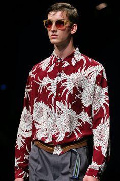 181239255037 Prada Spring 2014 Menswear  print  floral  asian Orientation Outfit
