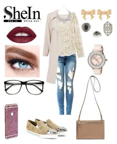 """""""♡WIN A SHEIN BEIGE LACE BLOUSE!♡"""" by lucieprettyliars ❤ liked on Polyvore featuring Miu Miu, Maybelline, Topshop, Ted Baker, women's clothing, women, female, woman, misses and juniors"""