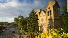 Santa Fe, I loves you: The first church was built on the site of the Cathedral Basilica of St. Francis in 1610, the year Santa Fe was founded. The original adobe church is long gone. The current cathedral in the French Romanesque style was completed in 1887.