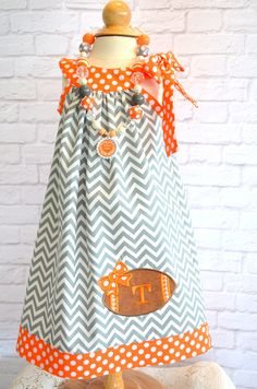 Tennessee Vols Football Dress Sizes 12 by LadyBugHugsBoutique bb2f19059