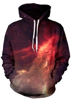 Interstellar style is unleashed in our Beloved Nebula Hoodie. Each Nebula Hoodie is made of 100 percent polyester and provides a crisp 360 visual that is unreal and incredible. We use a sublimation he