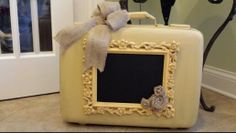 Old painted suitcase. Created by Bethany Cooper.