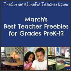 Big collection of FREE printables for all grade levels!