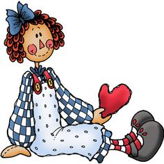 Tole Painting, Fabric Painting, Cartoon Drawings, Cute Drawings, Arte Country, Decoupage, Raggedy Ann And Andy, Card Sentiments, Whimsical Art