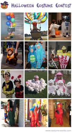 Homemade costumes for kids, a lot of ideas!