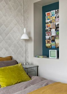 Ros Anderson visits a tiny, top-floor Parisian apartment that has been cleverly redesigned to create a perfectly formed city bolthole Beautiful Houses Interior, Beautiful Homes, Home And Deco, Home Decor Wall Art, Cool Walls, Decorating Blogs, Bedroom Wall, Home Decor Inspiration, Decoration