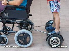 Motor auxiliar silla de ruedas acompañante asistente para empujar hoverboard wheelchair hoverpusher