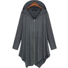 Amazon.com  Taiduosheng Pluse Size Hooded Sweatshirt Jacket Cape Style Grey  x-Large  Clothing e1caa07c3af
