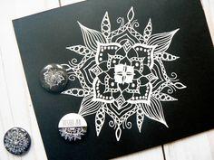 Black And White Doodle, Mandala, Doodles, Watercolor, Cards, Watercolor Painting, Scribble, Maps, Mandalas