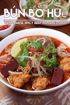 Bún bò Huế Vietnamese Spicy Beef Noodles Soup Recipe and Video