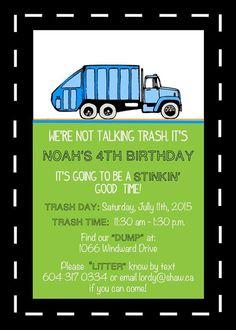 Garbage Truck Shirt Garbage Truck Birthday By Honeybeeskneesshop