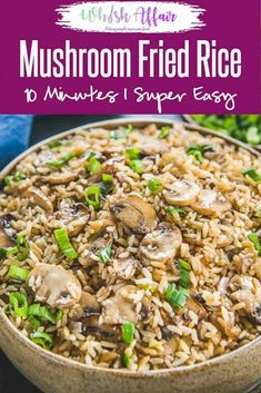 Use that leftover rice to make this easy Mushroom Fried Rice and see it disappear in minutes. Here is how to cook Mushroom Fried Rice in Chinese Style. Easy Mushroom Fried Rice Recipe Neha at WhiskAffair whiskaffa Vegetarian Chinese Recipes, Authentic Chinese Recipes, Easy Chinese Recipes, Indian Food Recipes, Asian Recipes, Vegan Vegetarian, Vegetarian Fried Rice, Leftover Rice Recipes, Easy Rice Recipes