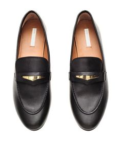 Leather Loafers | Black | Ladies | H&M US