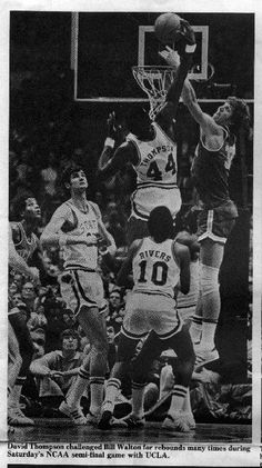 david over Bill Ncaa's Nc State Basketball, Nba Basketball Teams, College Basketball, Best Thai Restaurant, Kentucky Colonel, David Thompson, Nba Players, Aba, Stock Pictures