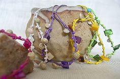 Seashell friendship bracelet yellow
