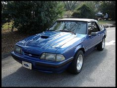 1988 Ford Mustang Convertible...my car in high school. I miss it!