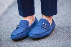 Mocassim azul Raphael Steffens. Perfeito para quase todas as ocasiões