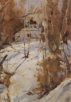Winter in Abramtsevo - Valentin Serov