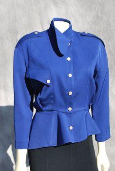 Vintage 80's THIERRY MUGLER jacket asymmetrical by thekaliman, $150.00