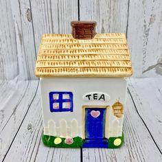 Tea Caddy tea bag storage ornament house cottage collectable ceramic teapots vgc Tea Bag Storage, Tea Caddy, Ceramic Teapots, Tea Pots, Cottage, Ceramics, Ornaments, Shop, House