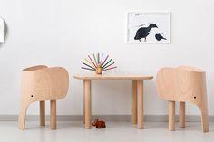 Elephant - Chaise enfant - Naturel - MARC VENOT Edité par Elements Optimal