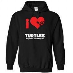 I love Turtles - 1015 - #mens shirt #sweater for teens. ORDER NOW => https://www.sunfrog.com/LifeStyle/I-love-Turtles--1015-8569-Black-Hoodie.html?68278