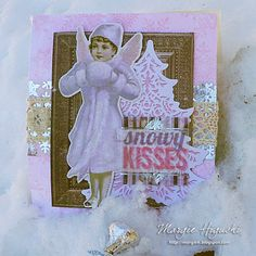 SNOWY KISSES Gift Bag by @ilscraps Layering vellum pieces from @mybobunny Winter Wishes Collection with E-Z Runner Permanent Fine Adhesive = perfect combination (sheer underneath). Just add glassine bag with chocolate kisses to the mix for a great thank you or pick me up gift. Step by step tutorial on the blog.