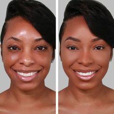 Haleys RE:Set Liquid Matte Foundation Neutral - 1 fl oz, Deep Tan - Neutral Matte Makeup, Dark Skin Makeup, Glam Makeup, Natural Makeup, Makeup Tips, Hair Makeup, Nice Makeup, Formal Makeup, Bronze Makeup