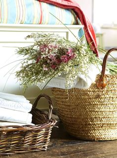fresh linens and wildflowers