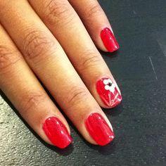 Orange nail polish! <3