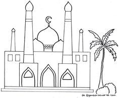 moschee ausmalbild | ausmalen, malvorlagen, ausmalbilder