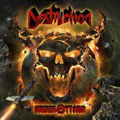 German thrash metal gods Destruction have just revealed the cover artwork for their upcoming new album, Under Attack. The incredible artwork was created Thrash Metal, Death Metal, Destruction Band, Hard Rock, Crossover, Rock Y Metal, Black Metal, Guitar Riffs, Metal News
