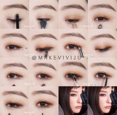Korean makeup ideas: It's paramount to understand that beauty is not merely skin. - Korean makeup ideas: It's paramount to understand that beauty is not merely skin deep. Korean Makeup Look, Korean Makeup Tips, Asian Eye Makeup, Korean Makeup Tutorials, Natural Eye Makeup, Eyeshadow Tutorials, Natural Beauty, Eye Makeup Glitter, Kiss Makeup
