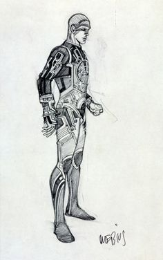1981 - TRON    Moebius is hired by Disney Studios to begin concept design work for TRON (released in 1982). He would also serve as a backup storyboard artist.