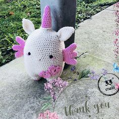Crochet Unicorn Personalised Amigurumi Doll Handmade
